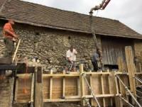 Tatabánya bánhida támfalépítés