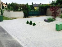 Tatabánya Kossuth kert térkövezés